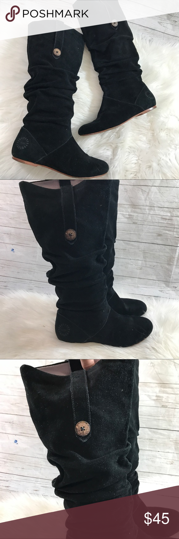2afb3104c24 Ugg highkoo suede slouch boots black Gently used without flaws other ...
