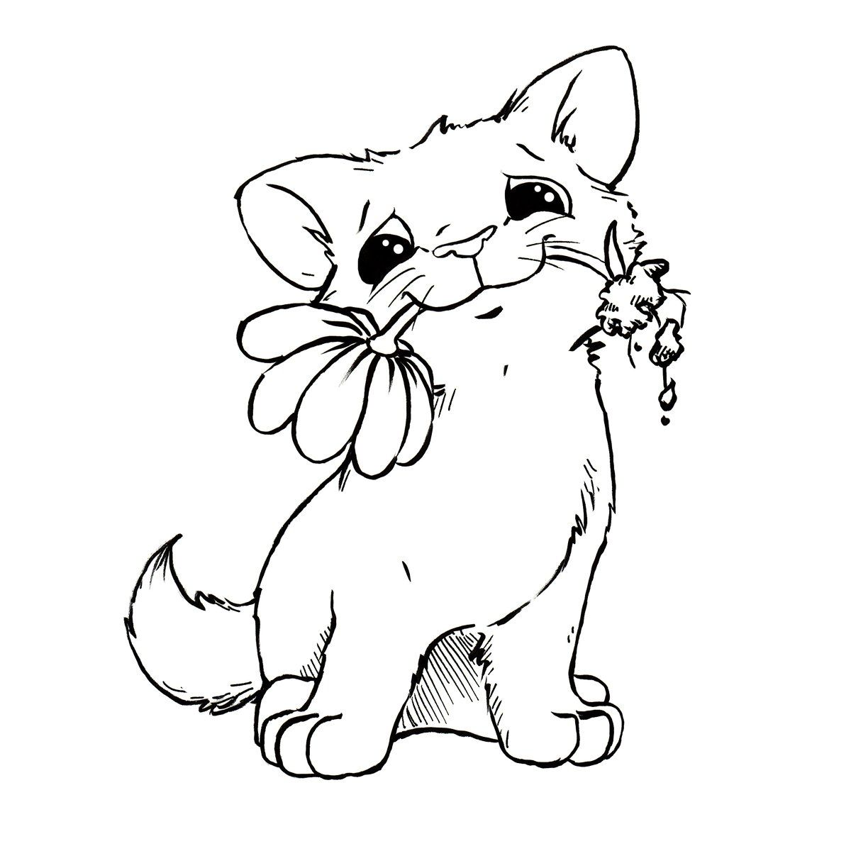 Ausmalbilder Von Katzen Und Hunden : Http S45 Radikal Ru I108 1102 2f 7ccbbfc57fe6 Jpg More