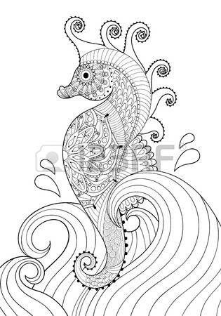 El Doodle Yetişkin Boyama A4 Zentangle Tarzı Meksika Etnik Süs