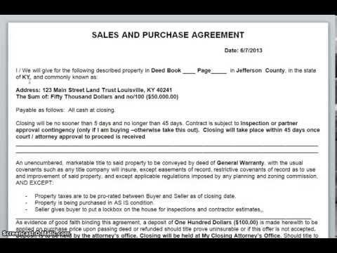 Free Contract - How To Fill Out A Real Estate Sales and Purchase ...