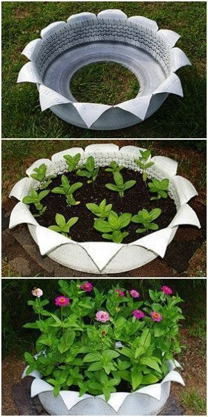 20+ Best DIY Tire Planter Flower Pot Ideas & Projects For 2019