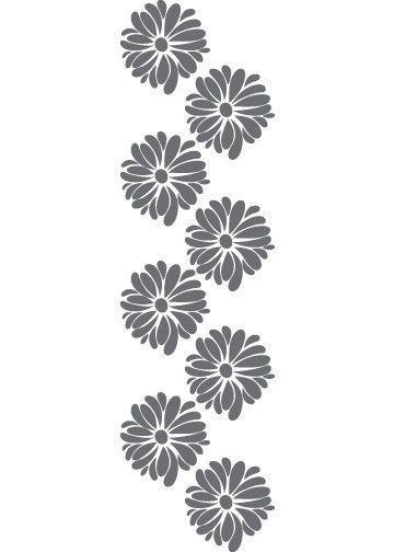 Vinyl wall sticker decal art pretty flower pattern for the home vinyl wall sticker decal art pretty flower pattern by urbanwalls 4500 mightylinksfo