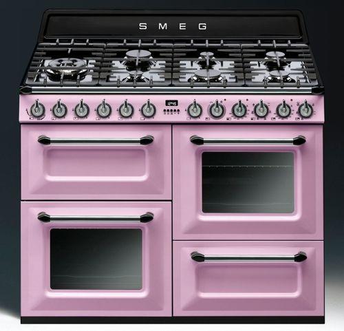 Gaziniere Rose Victoria De Smeg La Reine Des Pianos Met Les - Gaziniere et four electrique pour idees de deco de cuisine