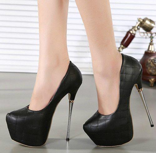 Womens Platform Super High Heels Pumps Stiletto Ankle Strap Sandals Shoes 16cm