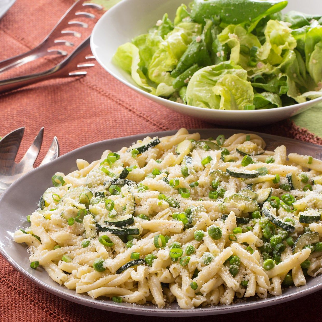 Creamy Strozzapreti Pasta With English Peas Zucchini Mascarpone