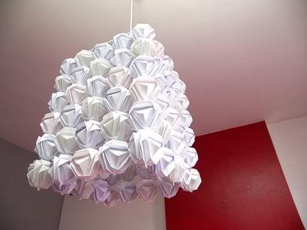 origami lampe  !