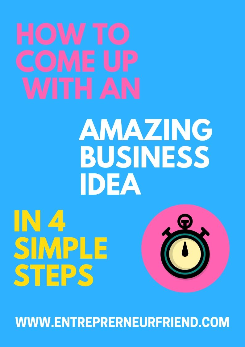 how to come up with profitable small business ideas in 4 simple