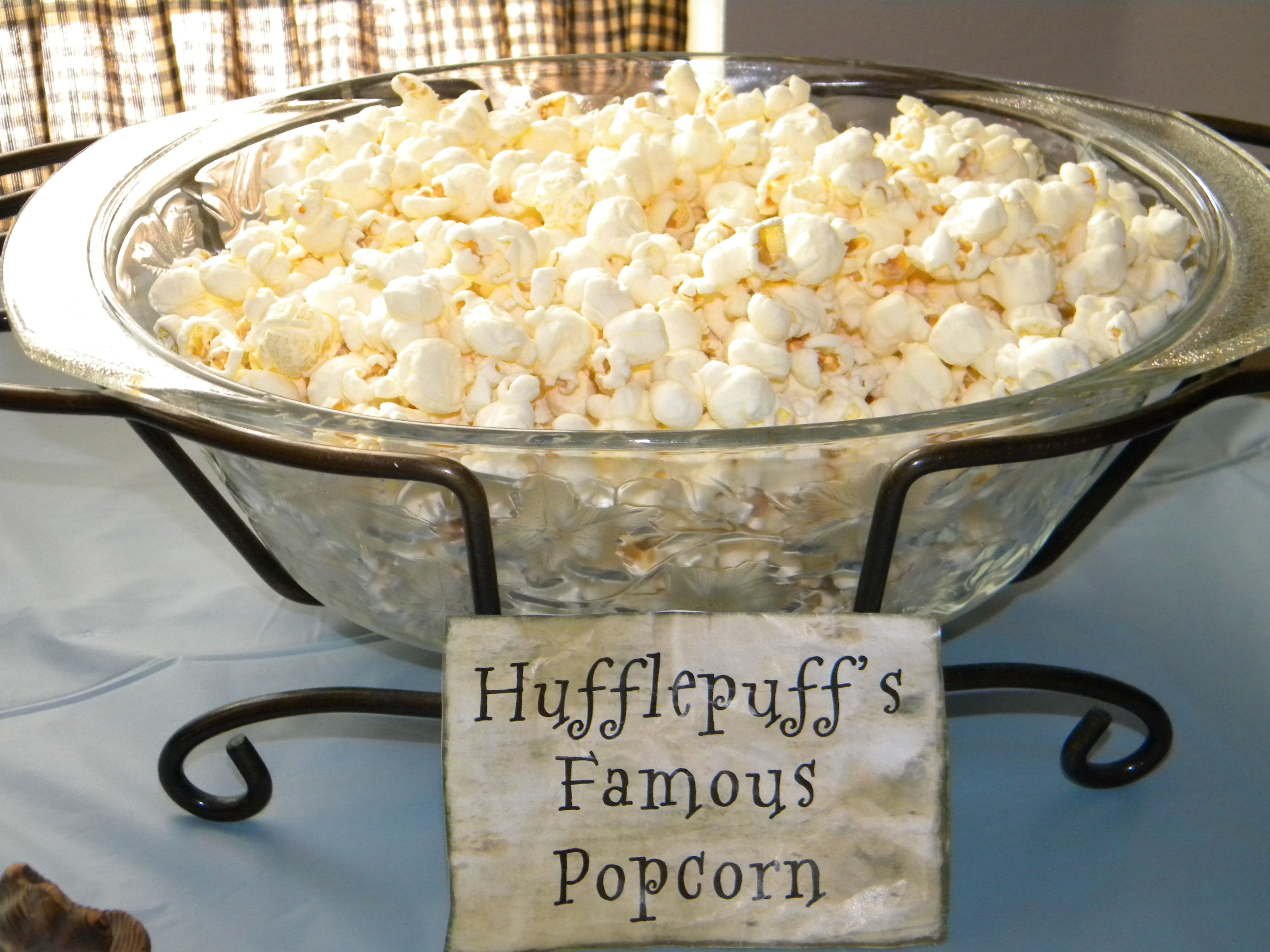Hufflepuff s Famous Popcorn harry potter baby shower