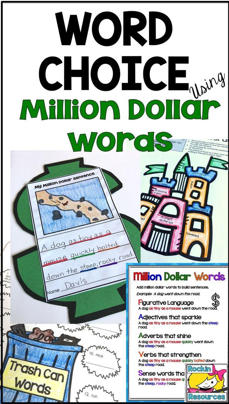 Word Choice Using Million Dollar Words and Editable Color-Coding ...