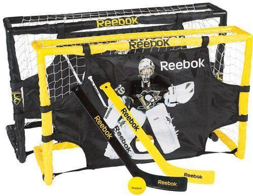 Maska Reebok U S Inc Mini Hockey Set Fleury By Reebok 34 99 Reebok Mini Hockey Set Fleurytop Shelf Pro Style Mini Set Hockey Goal Sport Hockey Reebok