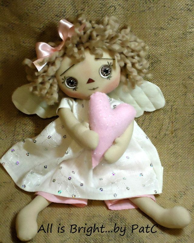 """Primitive Raggedy Doll """"Your just like an Angel"""" by"""