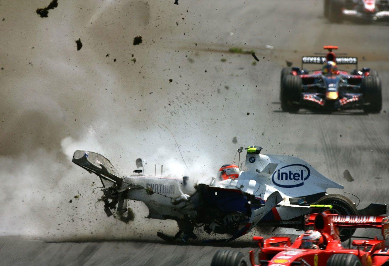 Kubica's crash in Canada Racing, Car crash, Crash