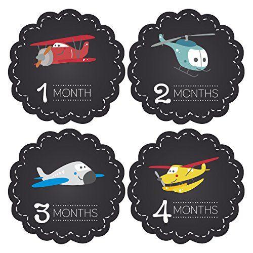 Pinkie Penguin Baby Monthly Stickers - Airplanes Chalkboard - Milestone Onesie Stickers - 1-12 Months - Baby Shower Gift Pinkie Penguin http://www.amazon.com/dp/B00TKWEVZY/ref=cm_sw_r_pi_dp_q31uvb0P14X0N