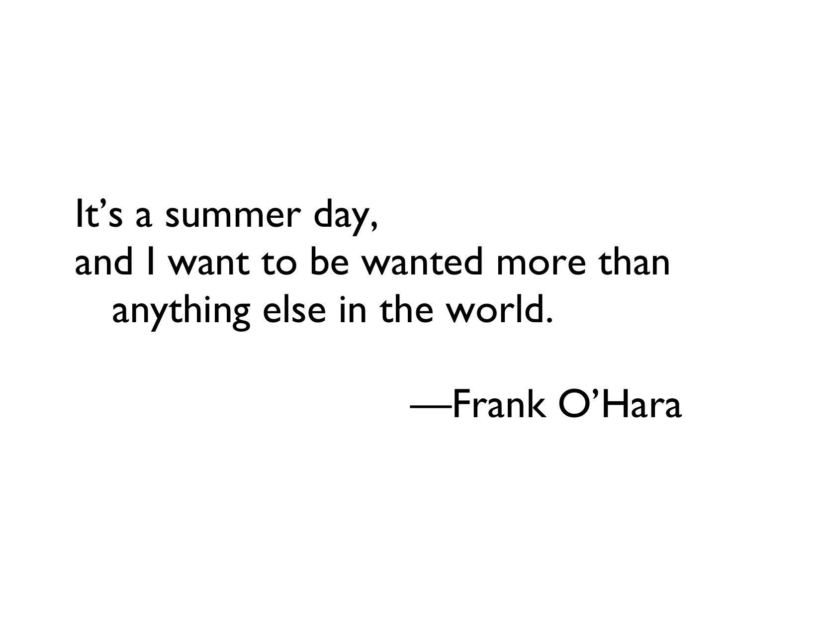Frank ohara homosexuality