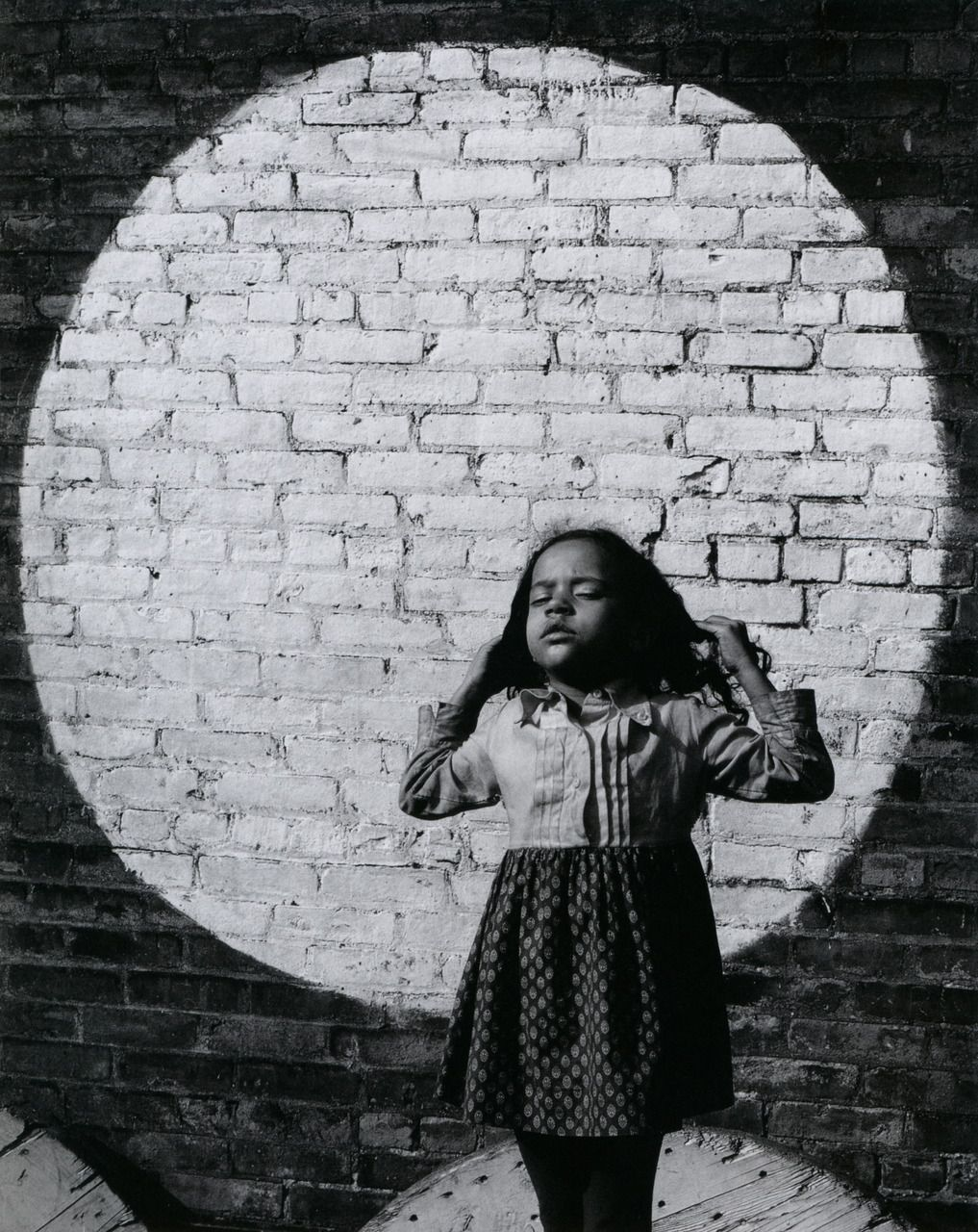 Arthur Tress :: Girl in Painted Spotlight, NYC, 1968 more [+] by this photographer