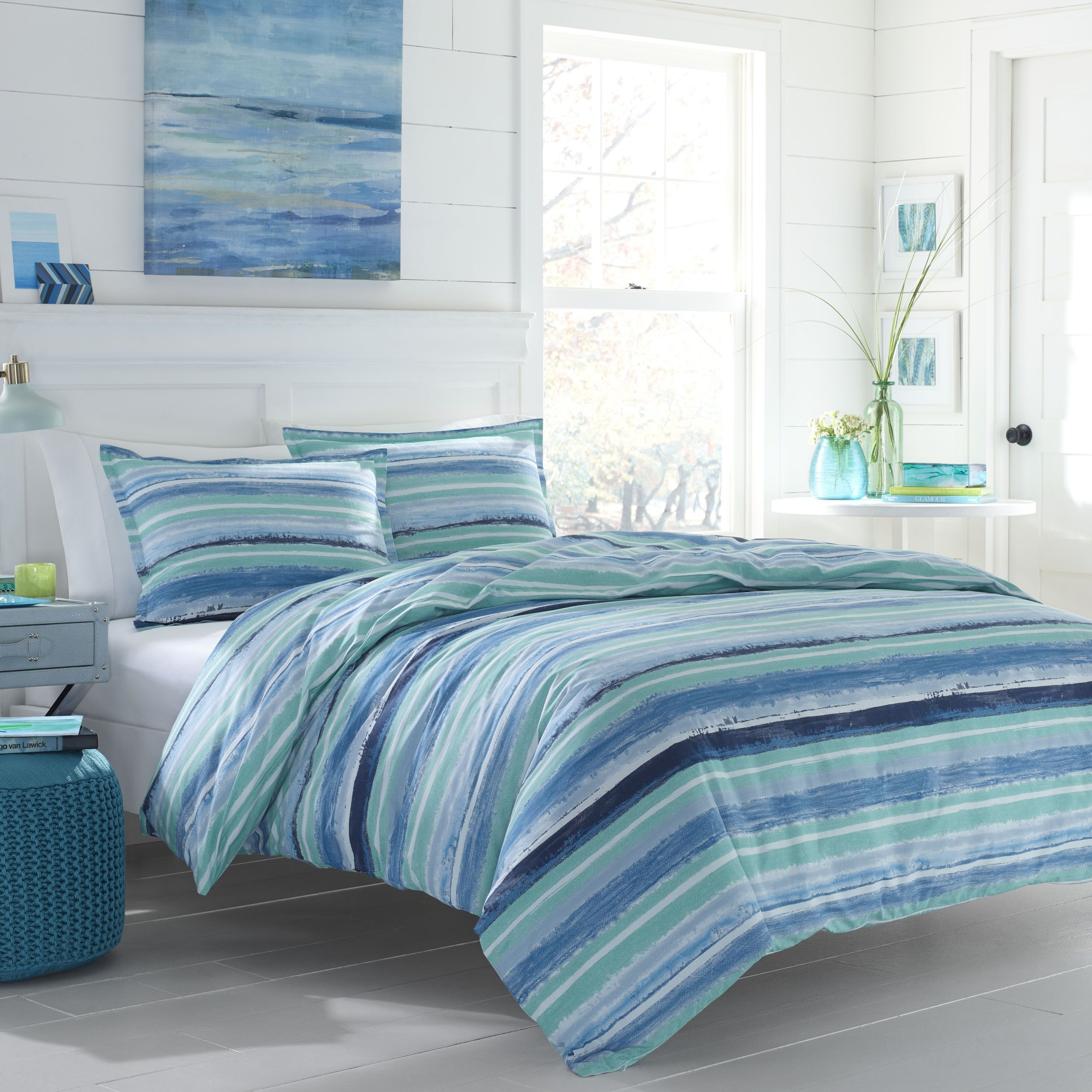 pin a and features multicolored duvet to the of covers reverses set comforter lighthouses sailboats nautical theme