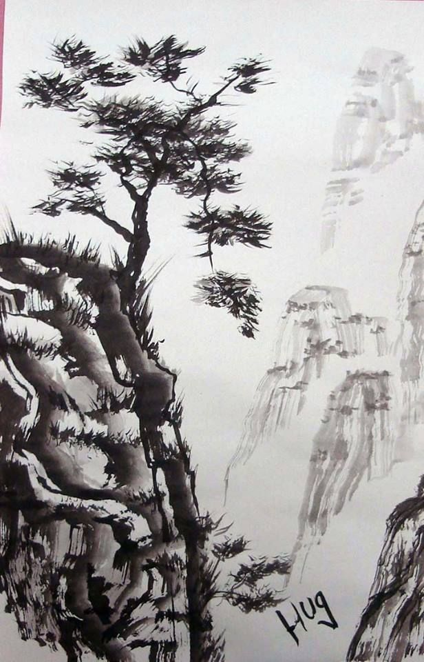 sumi e chinese ink painting sample from our wednesday evening class 7 30 8 30 pm creativecorner creativec482 westhempstead longisland local art