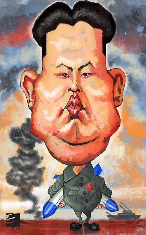 Kim Jong Un caricature | Caricature, Drawings, Celebrity ...