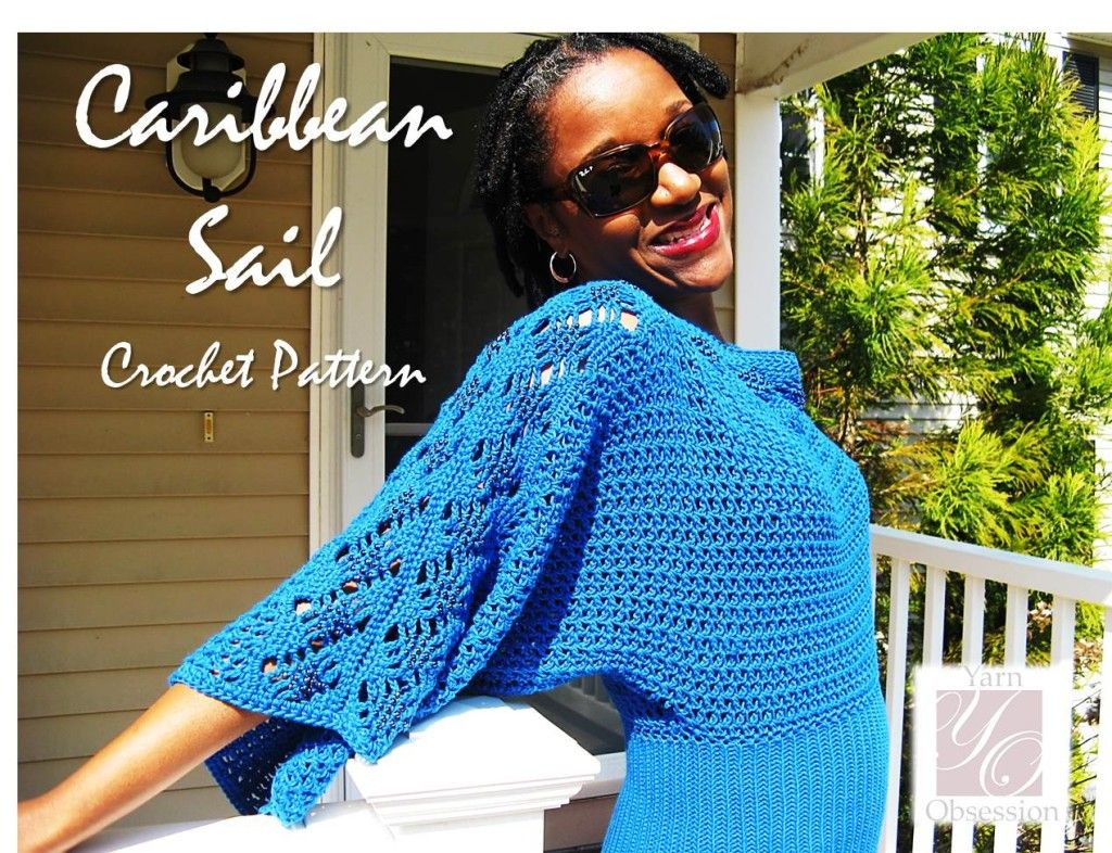 Caribbean Sail Crochet Pattern on Yarn Obsession #crochettop #crochet