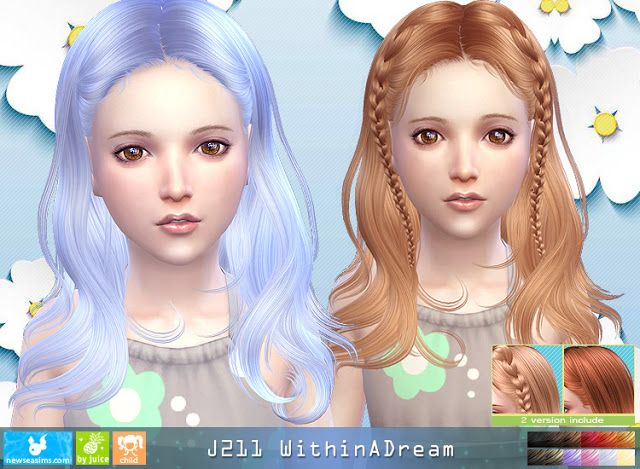 Sims 4 CC's - The Best: Newsea Within A Dream Hair for Kids