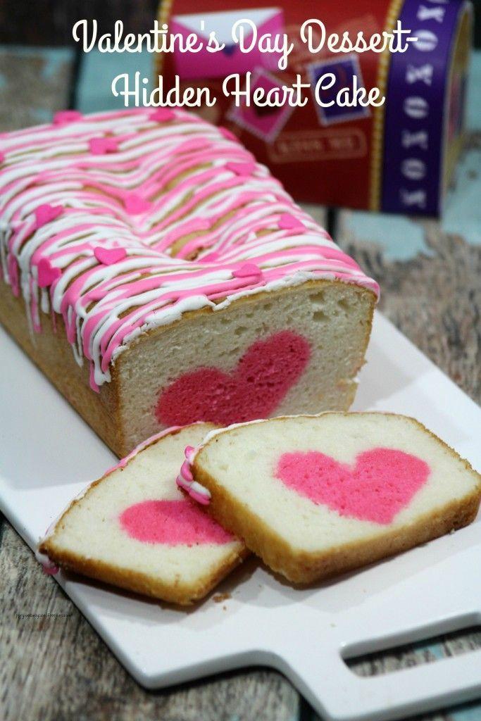 Valentine S Day Dessert Hidden Heart Cake Recipe Fall Fun
