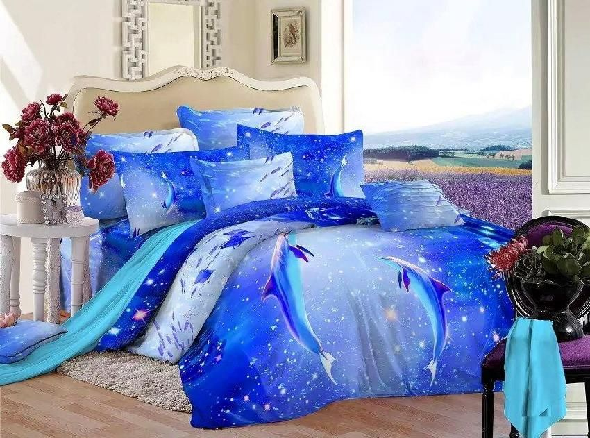 Cheap Bed Post, Buy Quality Bed Throws Bedspreads Directly From China  Bedspread Black Suppliers: Blue Ocean Bedding Set Queen Size Dolphin Quilt  Doona Duvet ...