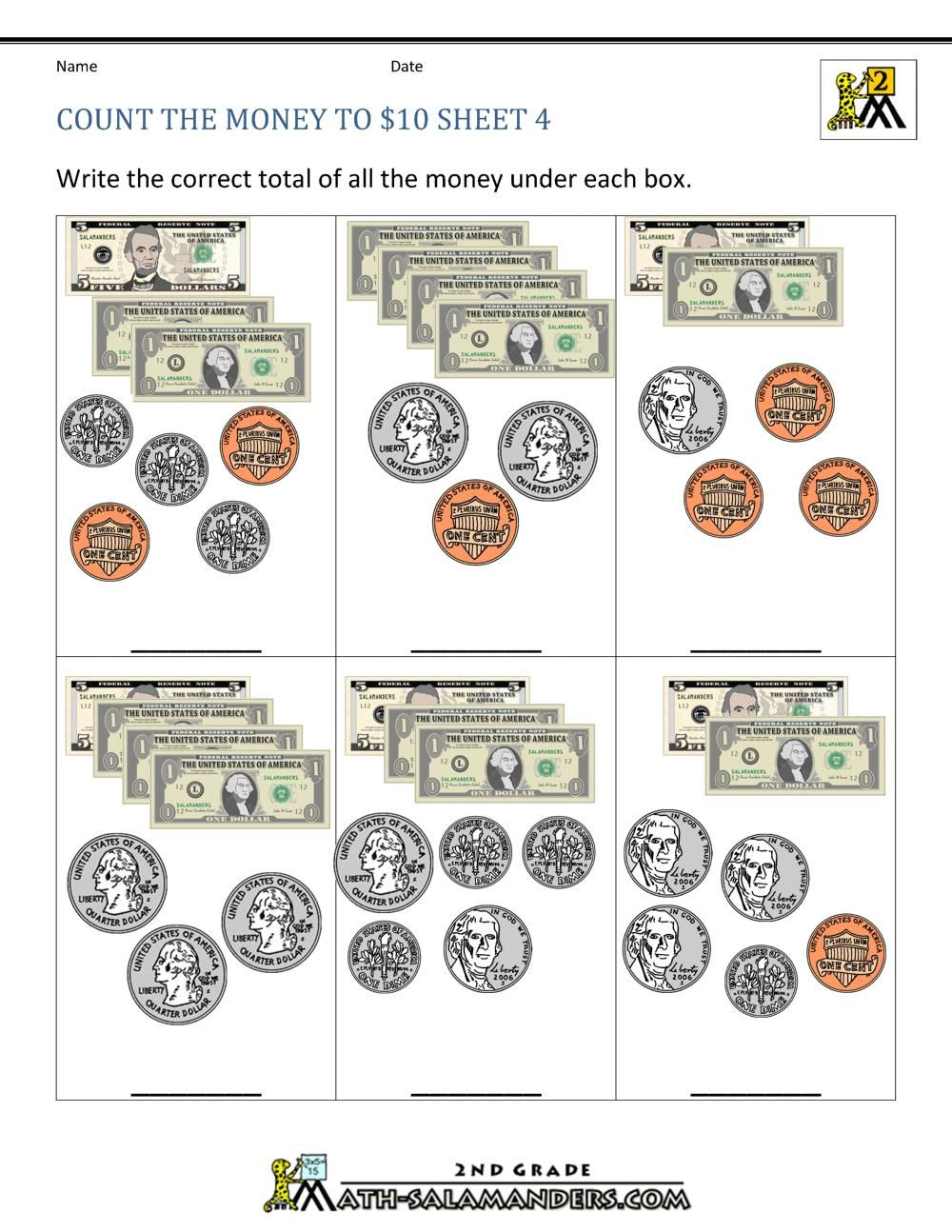 Printable Worksheets Counting Money in 2020 Money