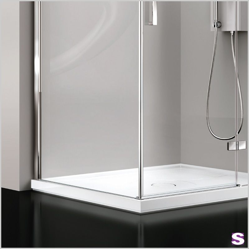 The minimal shower enclosure Koralle SL410 offers space