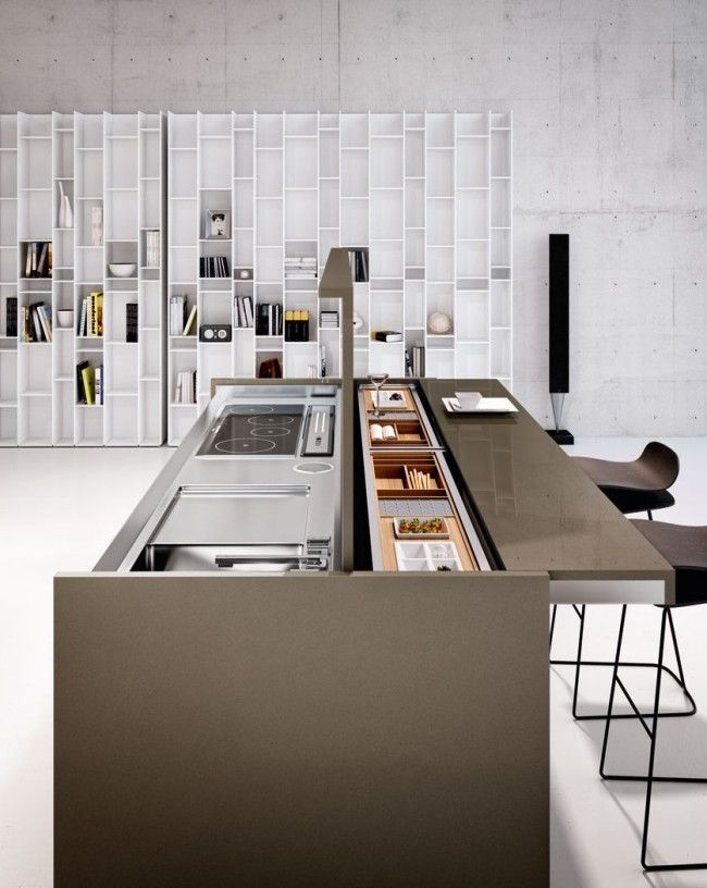 Linea Quattro-Arca Kompakte Küche-Design modern-Küchenblock \u2026 deco