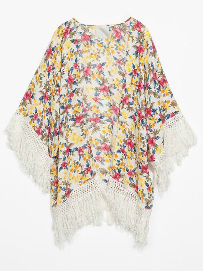 Floral Bat Blouse With Tassels | Choies