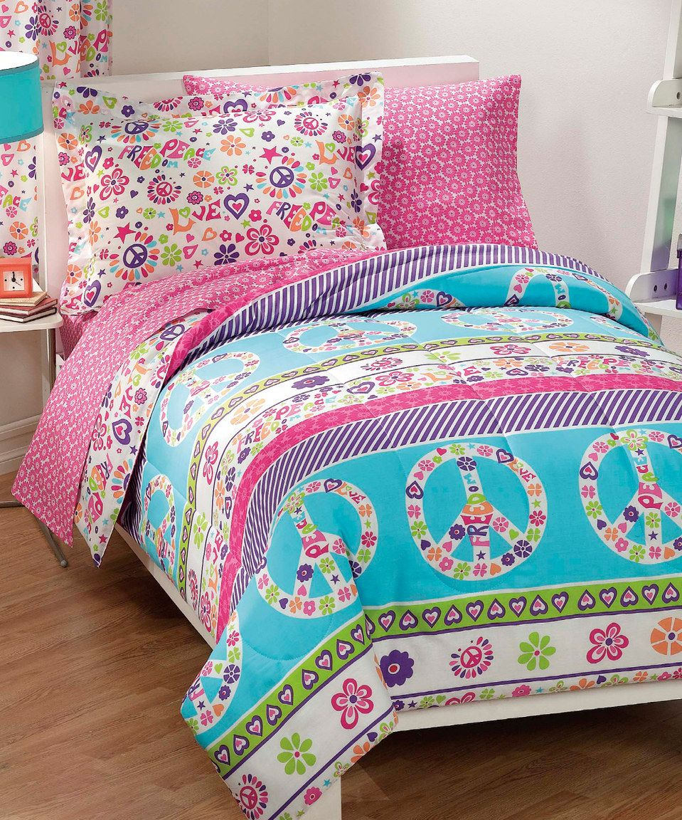 Loving This Peace Amp Love Comforter Set On Zulily