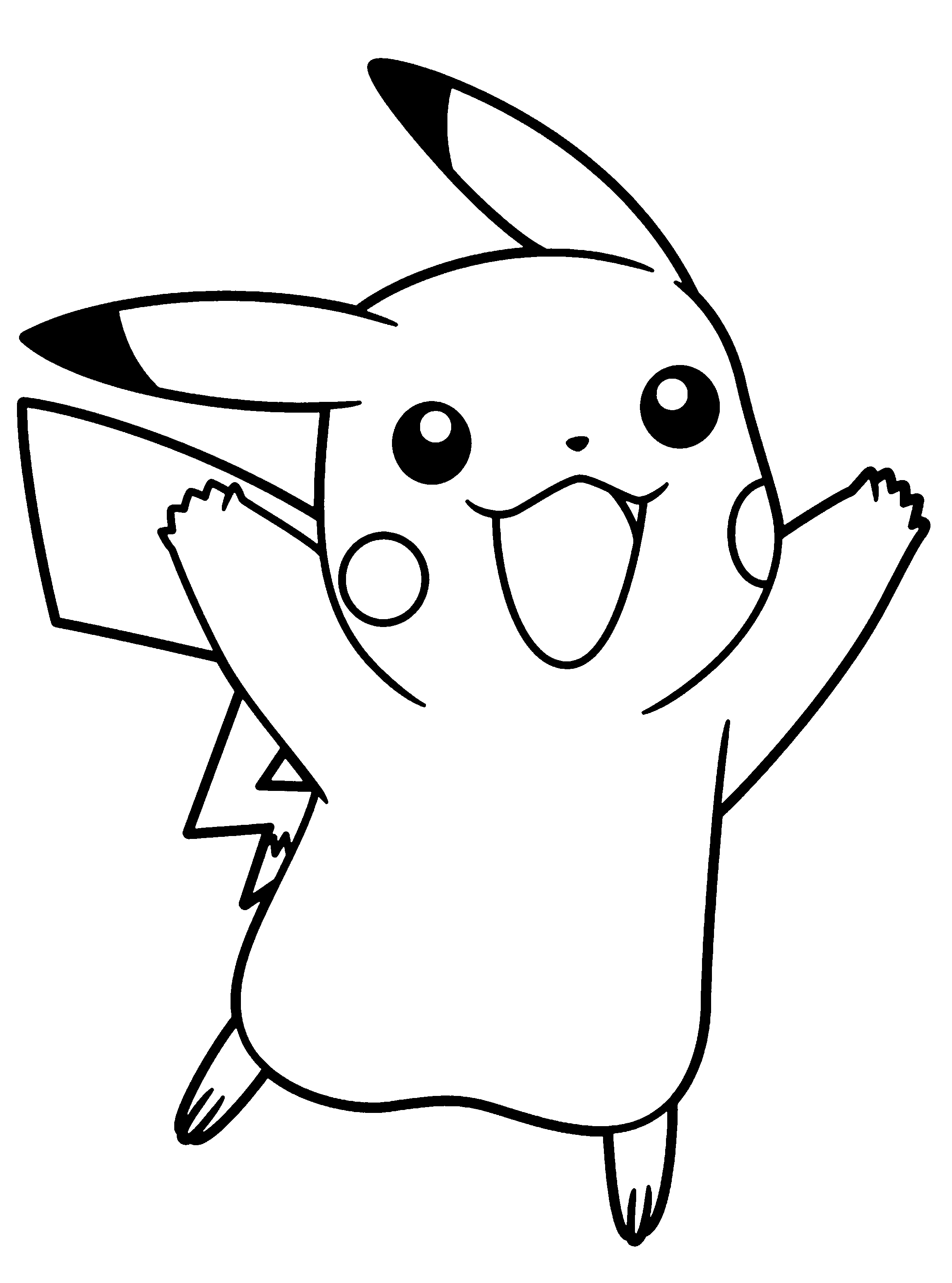 Pokemon Jumping Excited Coloring Pages For Kids Printable