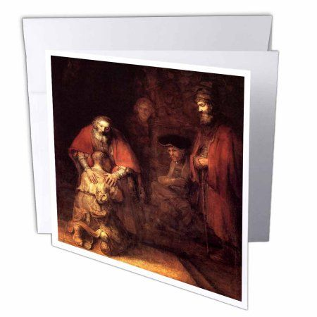 3dRose Print of Rembrandt Painting The Prodigal Son, Greeting Cards, 6 x 6 inches, set of 12