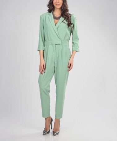3fd98dda14eb Aqua Green Wrap Jumpsuit by Carla by Rozarancio