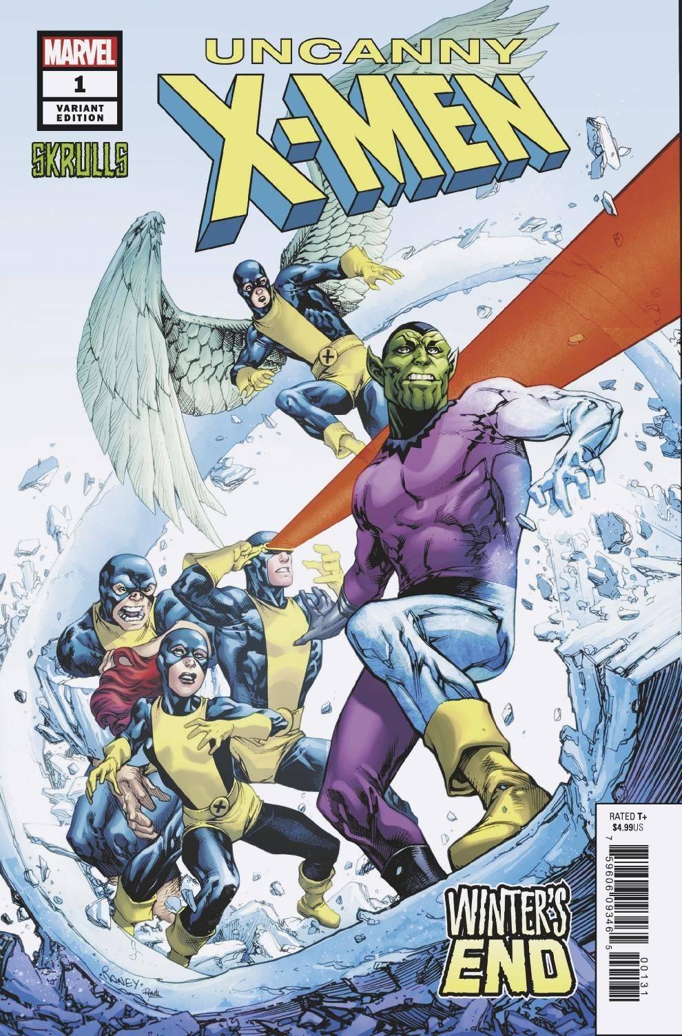 Uncanny X Men Winters End 1 Raney Skrulls Variant 3 13 19 Comics Marvel Comic Character X Men