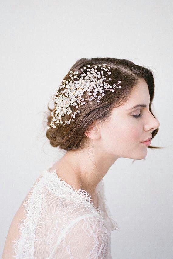 accessoires cheveux coiffure mariage chignon mariée bohème romantique  retro fac298b4c4c