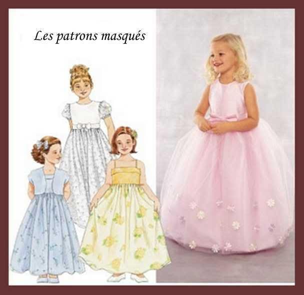Patron de robe de ceremonie pour petite fille
