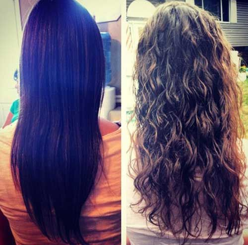 Dark Brown Loose Perm Hair With Images Permed Hairstyles Hair Styles Body Wave Perm