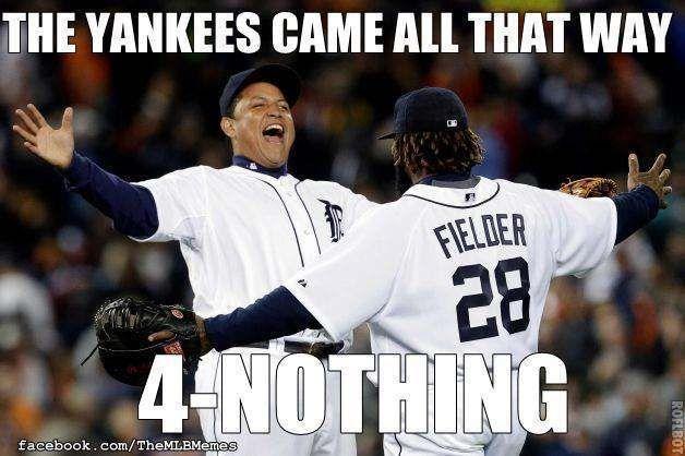 cc0e6e091cb1152cb093c0be25d4730f baseball, mlb memes, detroit tiger, new york yankees for the