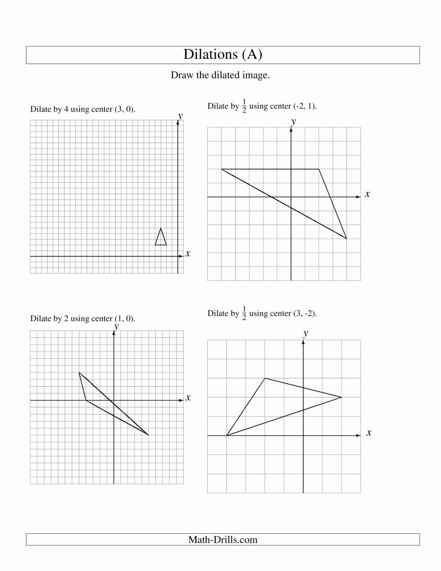 50 Dilations Translations Worksheet Answers in 2020 (With