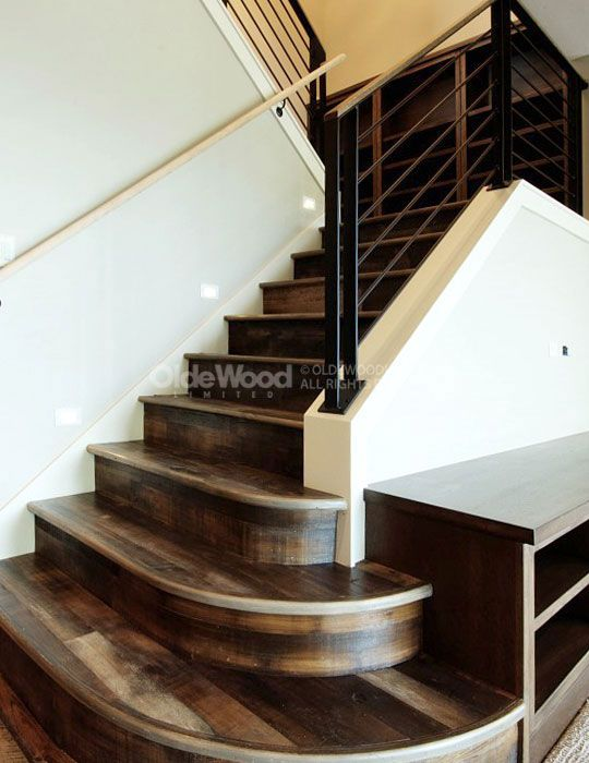 Reclaimed Wood Stair Parts | Reclaimed Stair Treads | Olde Wood