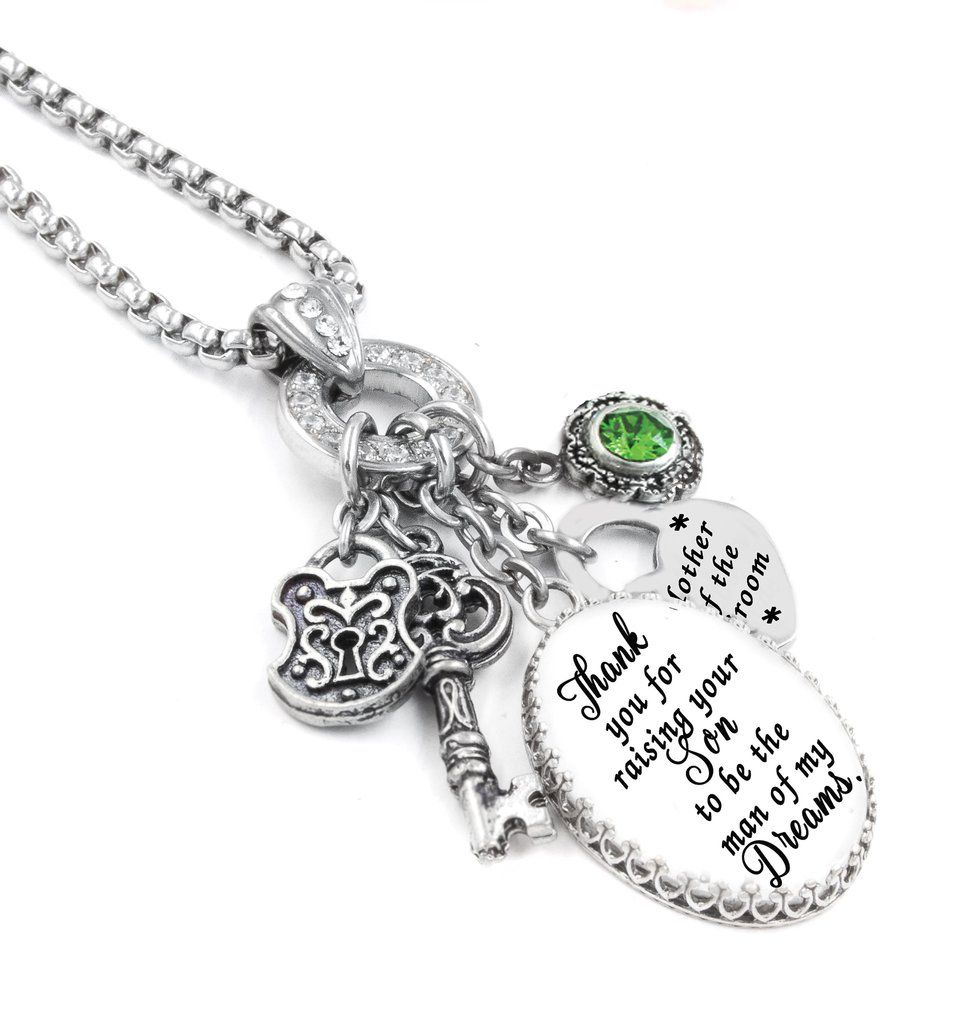 Mother Of The Bride Necklace Wedding Jewelry Pendant