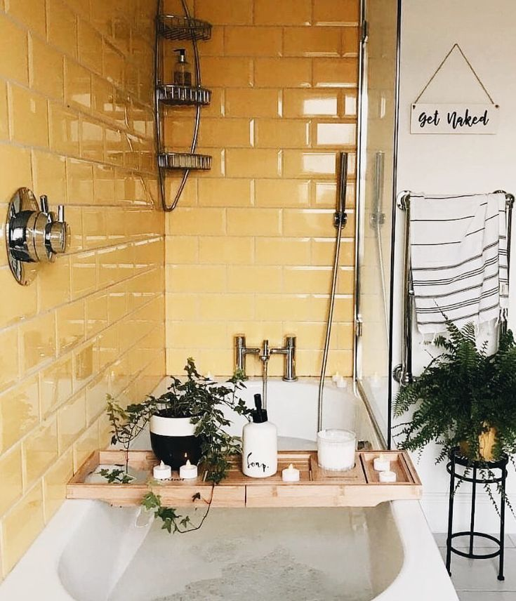 Photo of yellow bathroom