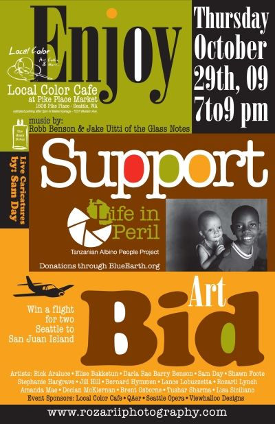 Using Local Art Fundraisers Fundraising Poster