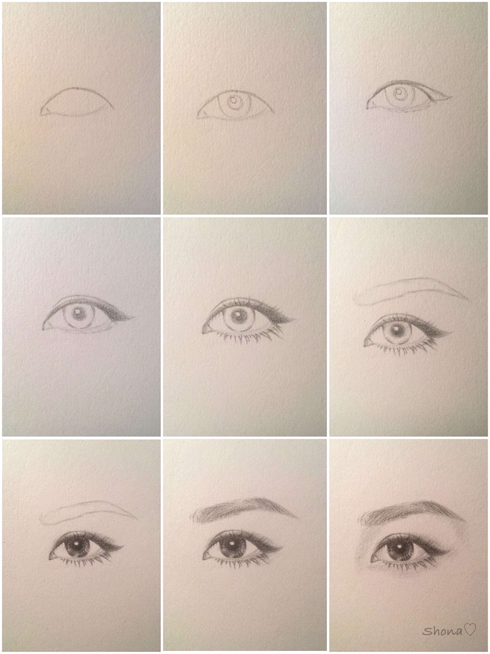 Realistic Eye Tutorialhope This Helps Please Excuse The