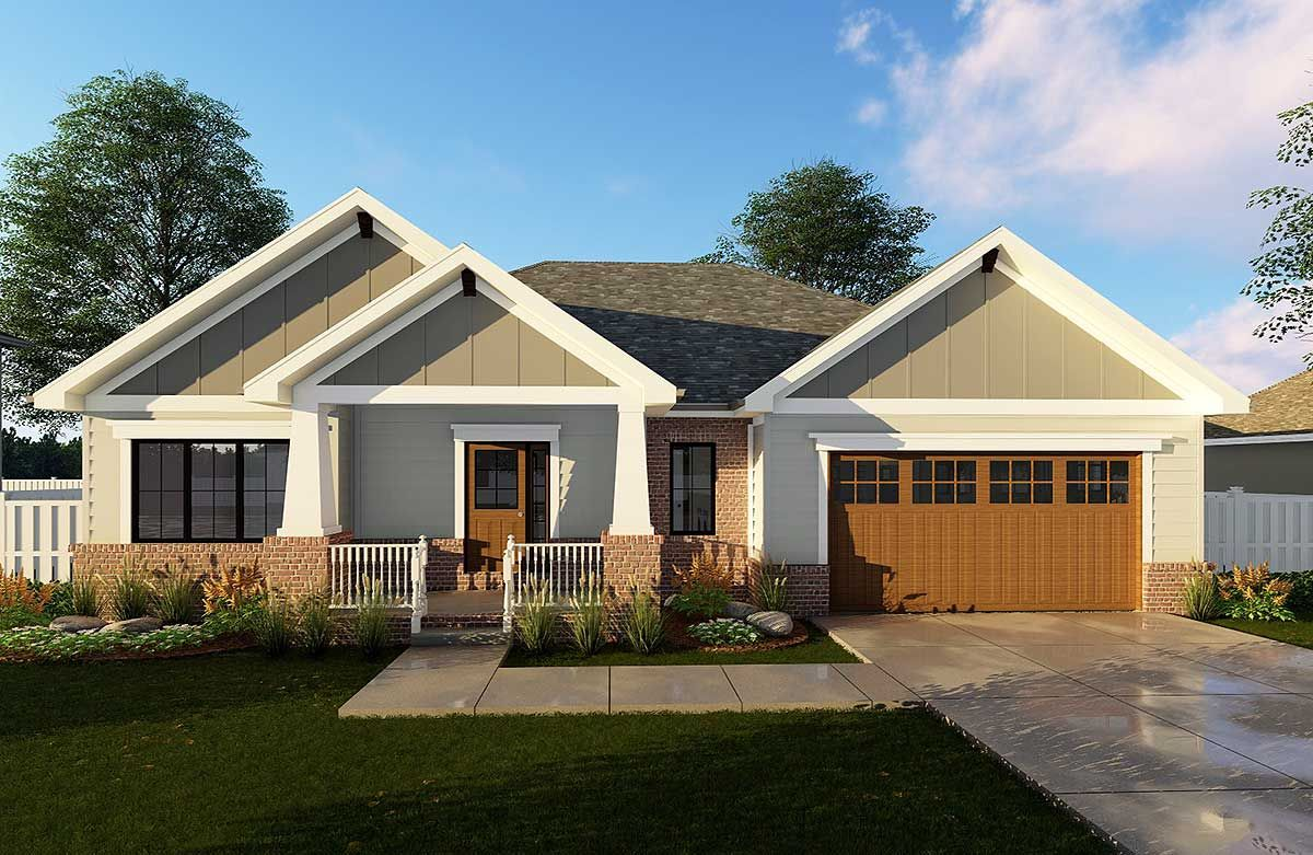 Plan 62565dj Craftsman Ranch House Plan Craftsman House Plans Craftsman House Architectural Design House Plans
