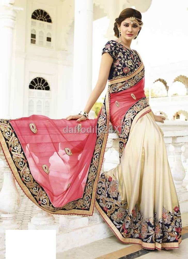 Bollywood Saree Party Wear Indian Ethnic Pakistani Designer Sari ...