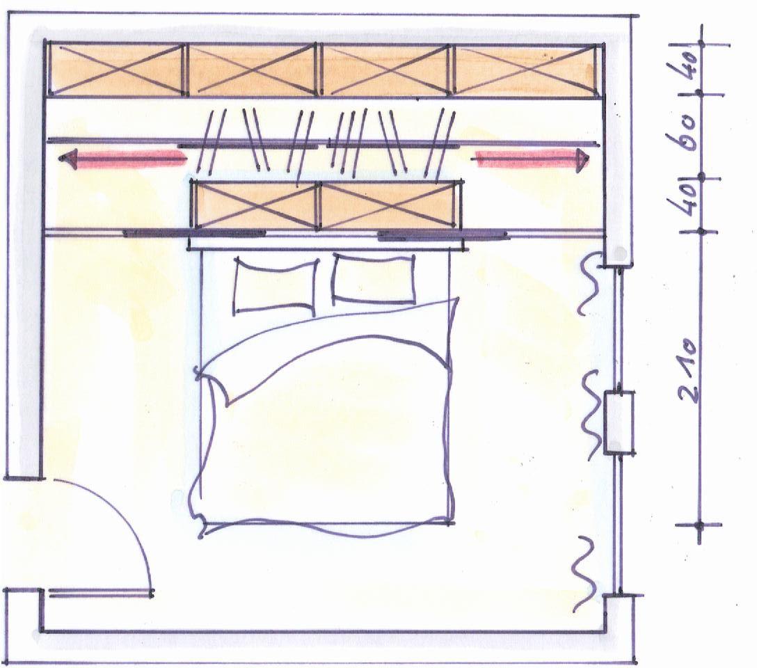 Bett Unter Dachschräge Komfort Schlafzimmer Ideen Mit: Schrankraum Hinter Dem Bett Mit Dressglider