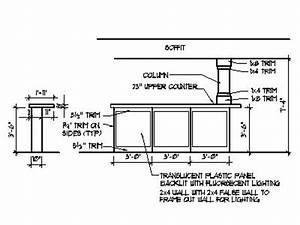 Home Bar Plans Design Blueprints Drawings Back Bar Counter