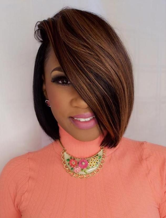 60 Showiest Bob Haircuts For Black Women Bobs Haircuts Black Women Hair Color African American Hair Color